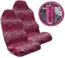 5 Pc Car Seat Cover Set Leopard Pink Girly   http://www.cardecor.com/products/Leopard-Pink-5-Pc-Seat-Cover-Set.html