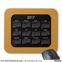 2017 Gold Calendar by Janz Mousepad