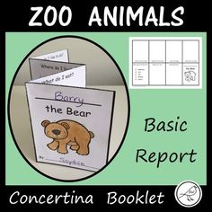A fun concertina booklet to present information about 27 different zoo animals. The Report He Home Learning, Student Learning, Amphibians, Mammals, Where Do I Live, Writing Resources, Classroom Resources, Story Starters, Types Of Animals