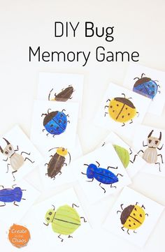 DIY bug memory game for kids and simple tutorial. My boys had so much fun playing this matching game!