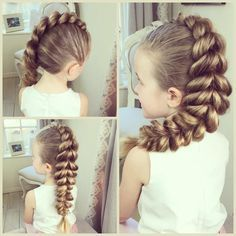 """""""The Mohawk Pull-Through Braid! I have a tutorial of this style on my YouTube channel 'Sweethearts Hair Design' #SweetHearts #SHDPullThroughMohawkBraid…"""""""
