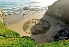 Artist Andres Amador creates amazing pieces of art by raking the sand at beaches, mostly in San Francisco.