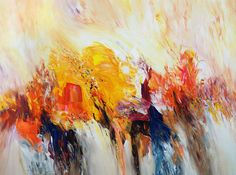 """Sunny Daydream M 1  Abstract acrylic painting on canvas   Size of vital abstract painting: 47.2"""" width x 35.4"""" height x 1.5"""" depth.  Modern art by Peter Nottrott: painting"""