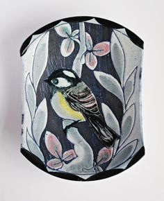 Tilgman's of Sweden Mid Century Wall Plaque Featuring a Coal Tit Bird, Sgraffito and hand painted by Sigbritt Hultman. £56.00