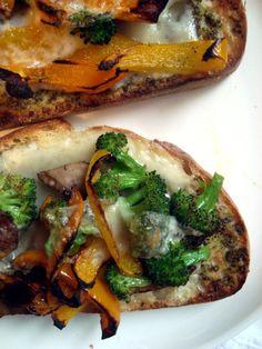Portobello, Broccoli and Red Pepper & Melts