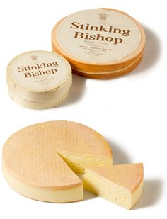 Stinking Bishop - Runny and so smelly - never get on a train with this ! One of my favourites, and can be found at Neal's Yard Dairy in Covent Garden and Borough Market