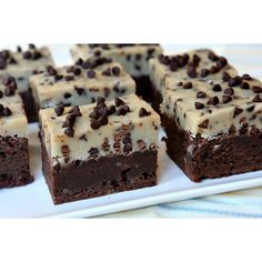 Chocolate Chip Cookie Dough Brownies Take Two ❤ liked on Polyvore