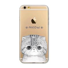 "iPhone 6/6s Case New 4.7"" iPhone 6/6s 'Kitty's Meow' clear soft silicone case.  Comes with one basic screen protector. Accessories Phone Cases"
