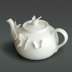 I love this!  I just wish it weren't so expensive!  Butterfly Teapot from Luna & Curious