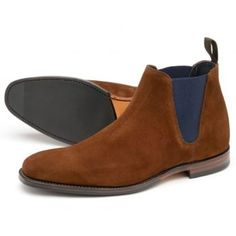A stylish low cut chelsea boot, available in brown or navy suede leathers. Caine uses the 'Legend' last for a squared off toe shape, and features a rubber forepart sole for greater longevity and grip. Caine is made in England. http://www.marshallshoes.co.uk/mens-c1/loake-mens-caine-brown-suede-chelsea-boots-p4892