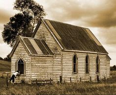 This was posted because it is an old chapel, but it sure resembles the one-room schoolhouse that was near our farm. Only the windows are different.