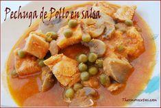 Receta de pechuga de pollo en salsa. #recetas  #pollo  #thermomix