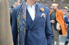 fleur boutonnière - So dandy - Pitti Uomo FW 2014 streetstyle #streetstyle #fashionweek #menswear