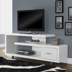 Monarch Specialties I 257 Hollow-Core TV Console | ATG Stores