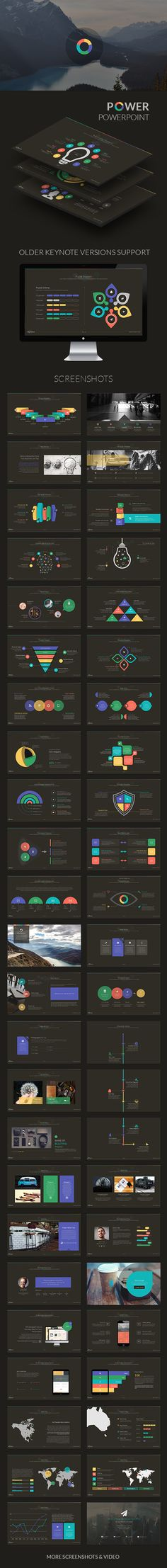 Power | Powerpoint Template  #green #pptx #animated • Download ➝…