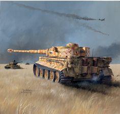German Panzer-Tiger 1 Tank in the field. Tank Wallpaper, German Soldiers Ww2, Tank Armor, War Thunder, Military Armor, Tiger Tank, Tank Destroyer, Armored Fighting Vehicle, Ww2 Tanks