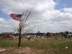 Memorial Day 2013. Moore Oklahoma tornado clean up.