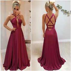 satin Criss Cross Back Prom Dress with Slit, Sexy Sleeveless Long Evening Party Dress V Neck Prom Dresses, Grad Dresses, Evening Dresses, Bridesmaid Dresses, Elegant Dresses, Cute Dresses, Beautiful Dresses, Formal Dresses, Style Outfits