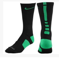Nike Elite Socks- Black and Green