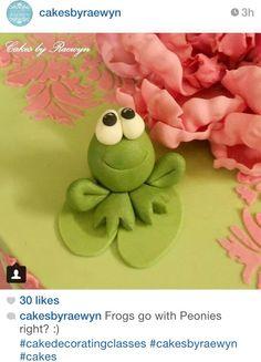 Gum paste frog figure