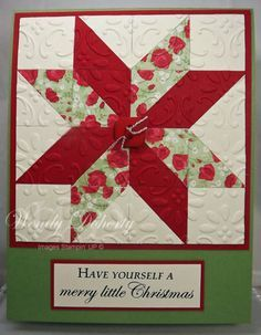 Quilted Christmas Star by Wdoherty - Cards and Paper Crafts at Splitcoaststampers