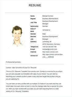 Basic Job Resume Examples Simple Sample Resumes Samples