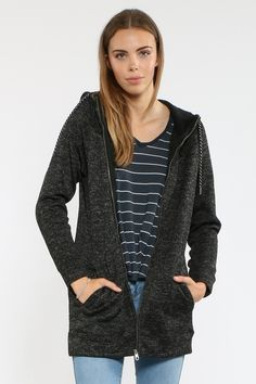 So Much More Long Zip Hoody Front Image