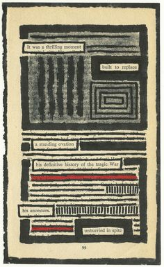 found poetry - I will do this in my class! Book Art, Book Page Art, Forms Of Poetry, Poetry Art, Erasure Poetry, Found Poem, Altered Books Pages, Poesia Visual, Poetry Journal