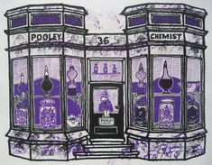 Pooley the Chemist in Wimbledon Village took over what was a doctor's house in 1825.  The manager almost apologised for the poor display in the windows and said they had lost their best jars in the war.  But what they have left are fine enough.