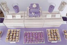 silver  purple wedding treats!