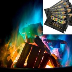 Mystical Fire Campfire Fireplace Colorant Packets: Add color to your fire! Throw 1 to 3 pouches into a fire and watch the flames magically change colors. Can be used in both indoor and outdoor fires. A unique way to enjoy a brilliant display of colorful flames on wood burning fires. A single pouch ...Read More @ http://greateststuffonearth.com/mystical-fire-campfire-fireplace-colorant-packets/