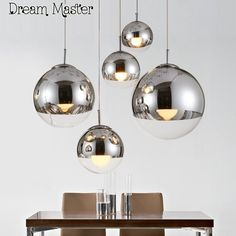78.00$  Buy here - http://alid05.shopchina.info/1/go.php?t=32812058439 - Nordic space ball  chandelier  bar  restaurant  bar  single head mirror  fashion ball shaped Chandelier Postage free  #aliexpresschina