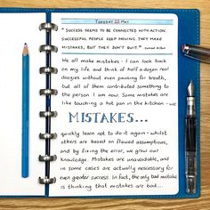 Mistakes are unavoidable, and in some cases are actually necessary for even greater success. In fact, the only bad mistake is thinking mistakes are a bad thing…. #inspiration #inspiring #inspiringquotes #mistakes
