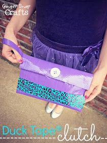 Ginger Snap Crafts: Duck Tape® Clutch {tutorial} #StuckAtProm #spon