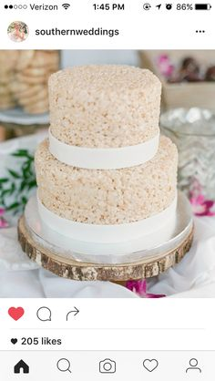 Yes, You Are Looking At A Rice Crispy Treat Mini Wedding Cake!