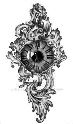 Clock Eye Tattoo Model