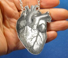 Laser etched   Anatomical heart pendant .... $28.00, via Etsy.