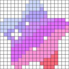 Cutie Star Perler Bead Pattern / Bead Sprite