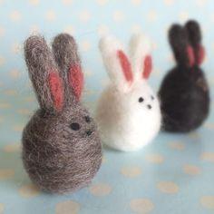 little wool bunnies by Liz of That Fuzzy Feeling @ folksy.com