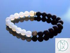 Onyx Agate Black Micro Pave Gemstone Bracelet 7-8'' Elasticated – Michael's UK Jewellery