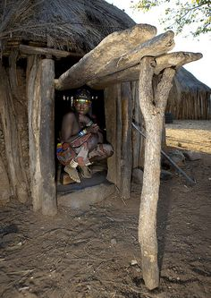 Mucawana tribe house - Mahine village. Angola by Eric Lafforgue, via Flickr