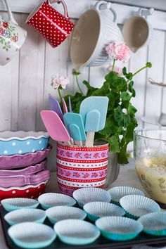 Baking In Pretty Pastel Colours