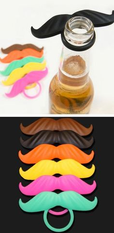 Mustache beer marker....wanna get this for the boyfriend ha