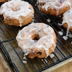 Glazed Blueberry Cake Donuts {Sweet Pea's Kitchen}