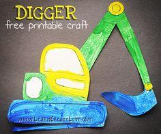 Printable Digger Craft | LearnCreateLove.com