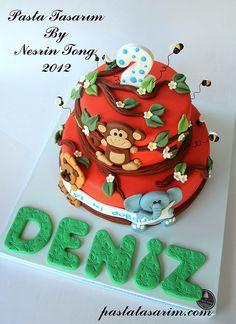 2ND BIRTHDAY CAKE  by CAKE BY NESRİN TONG, via Flickr