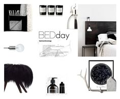 """BedDay"" by nmkratz ❤ liked on Polyvore featuring interior, interiors, interior design, home, home decor, interior decorating, Byredo, Lazy Susan, Crate and Barrel and Grown Alchemist"