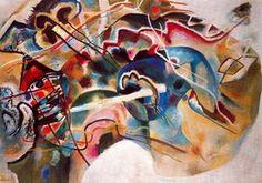 Pintura con tres manchas, aceite de Wassily Kandinsky (1866-1944, Russia)