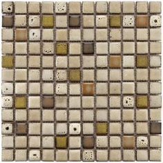 Merola Tile Essence Square Sierra 12-1/2 in. x 12-1/2 in. Multicolor Mesh-Mounted Mosaic Tile