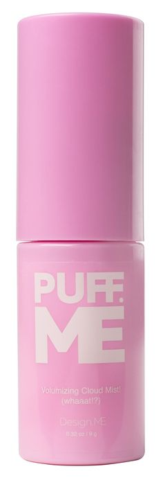 Introducing Puff.Me Volumizing Cloud Mist from Design.Me, a new breed of volumizing powder, that creates a literal cloud-burst of volume powder for high-precision root lift or texturizing. Puff.Me releases long, smooth, targeted puffs of powder that hit just the spot needed to boost volume, and add a touch of hold and texture, without drying the hair.